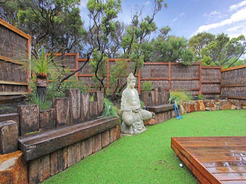 landscaped garden design using grass deck sculpture gardens
