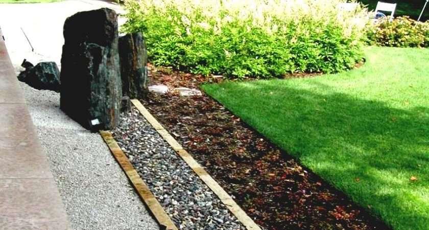 Landscaping Border Ideas Lawn Edging Garden Back Fence