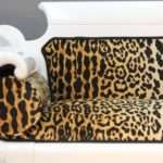 Laquered Upholstered Empire Style Sofa Leopard Print Stdibs
