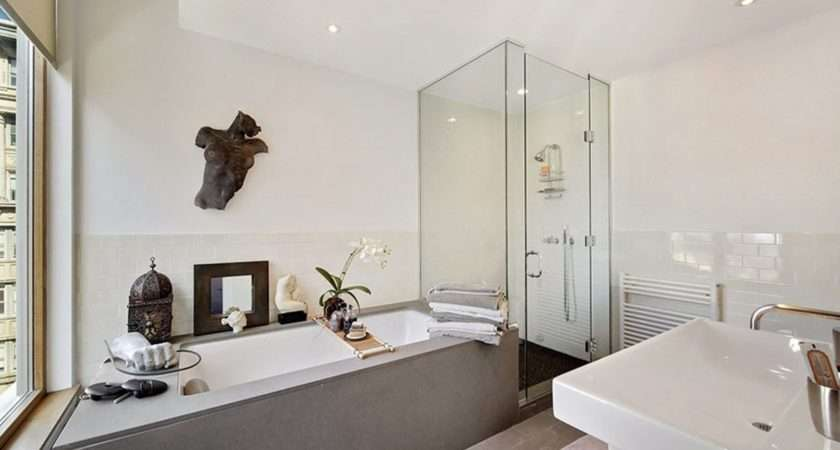 Large Bathroom Design White