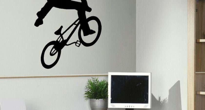 Large Bmx Trick Teenage Wall Art Bedroom Sticker Transfer