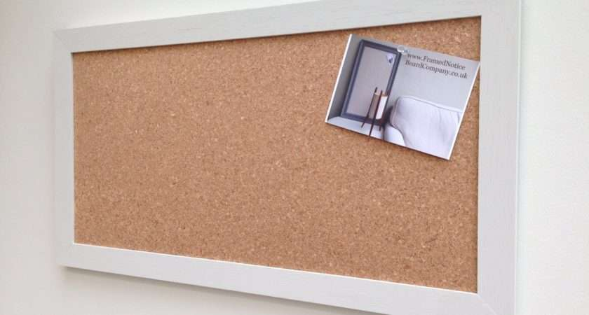 Large Cork Notice Board Pin Bulletin