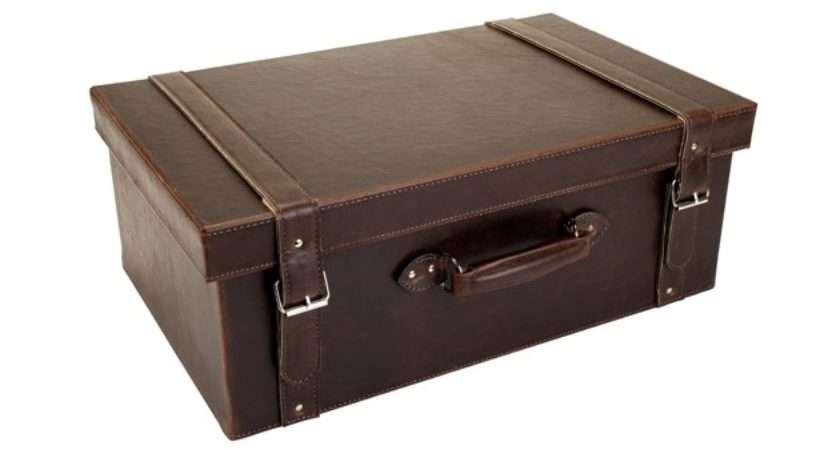 Large Faux Leather Suitcase Sainsbury Home