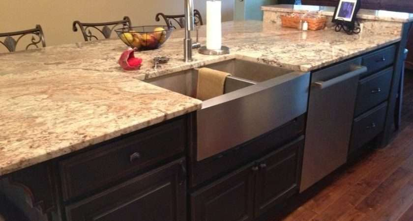 Large Galley Kitchen Island