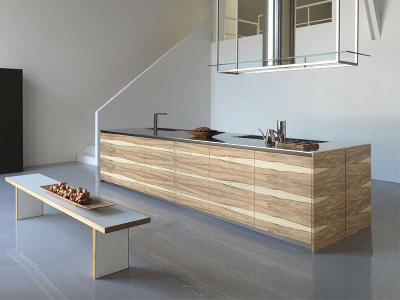 Large Kitchen Island Wooden Finish Twenty Modulnov