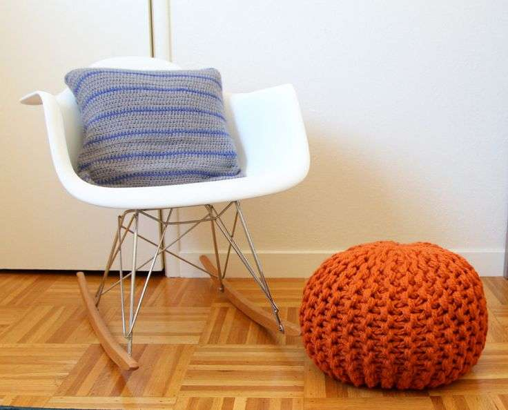 Large Knit Pouf Stuff Yourself Kit Marymarieknits Etsy