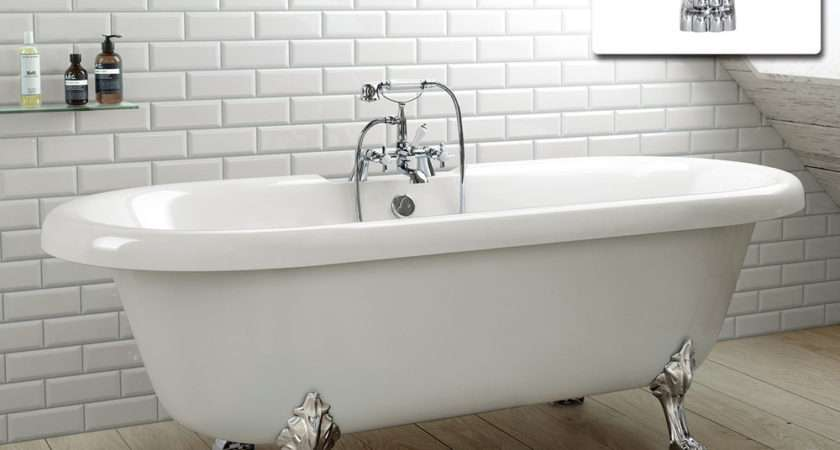 Large Traditional Freestanding Roll Top Bath Tub Ebay