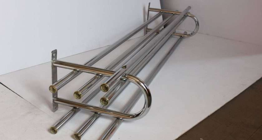 Large Vintage Two Tier Chrome Train Luggage Rack Sale Stdibs