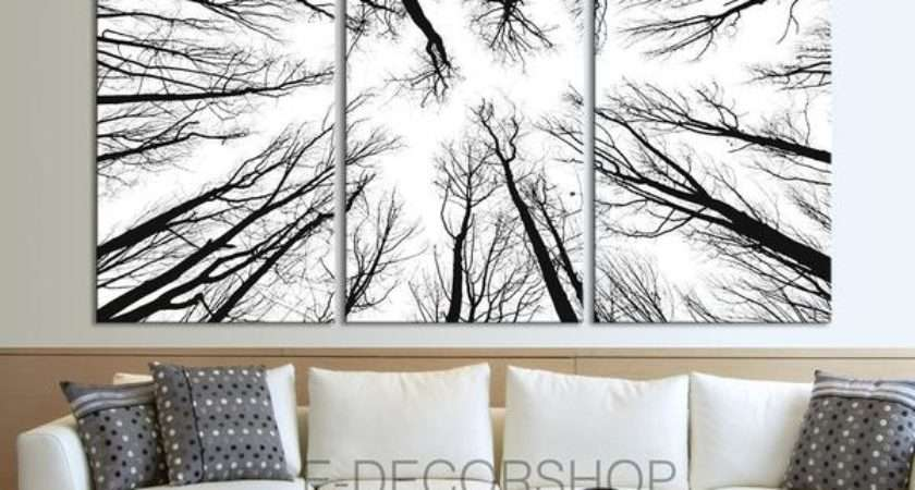 Large Wall Art Canvas Prints Dry Tree Branches