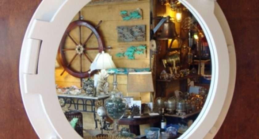 Large White Painted Nautical Porthole Style Mirror New