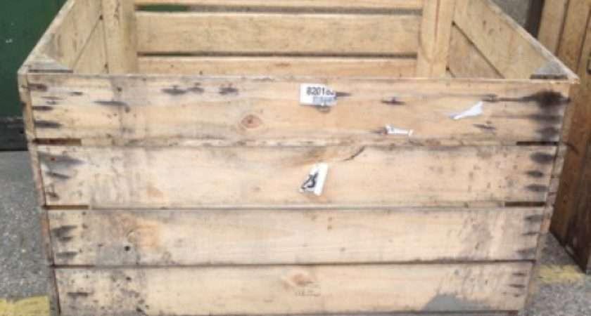 Large Wooden Storage Crate Apple Bin Vintage