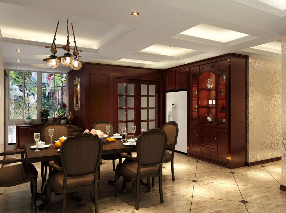 Latest Wooden Wine Cabinet Designs Dining Room