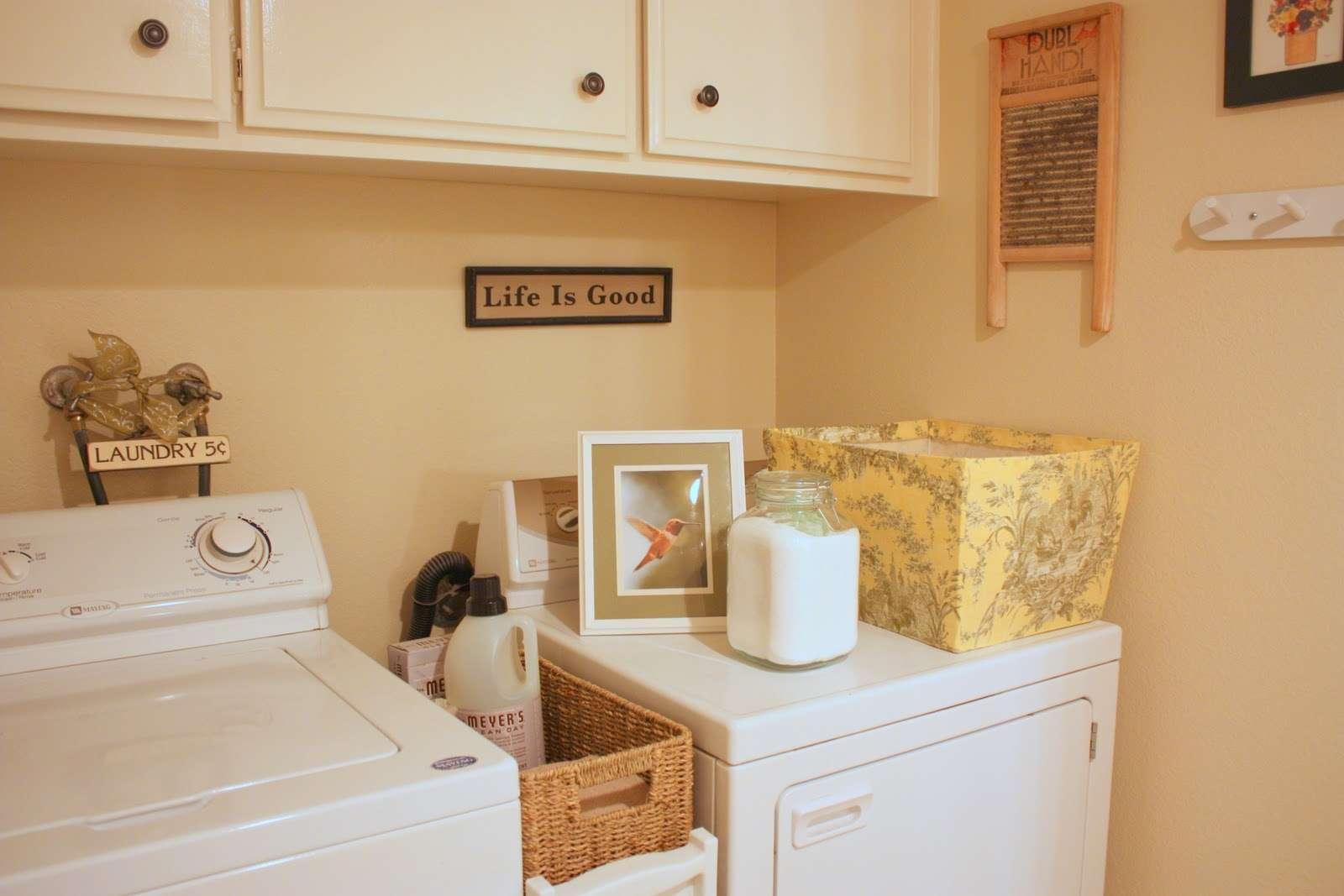 Laundry Room Ideas Happy Green Basement