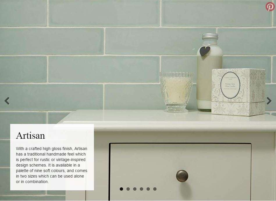 Laura Ashley Artisan Gloss Wall Tile
