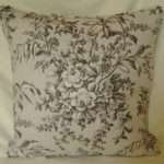Laura Ashley Picardie Grey Charcoal Toile Cushions