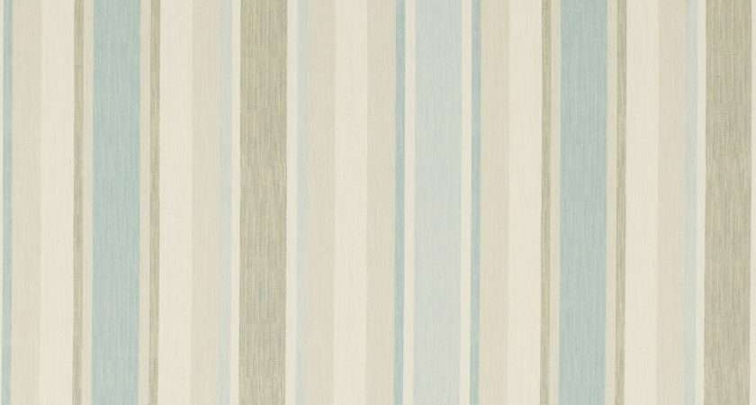Laura Ashley Ready Made Curtains Awning Stripe Duck Egg