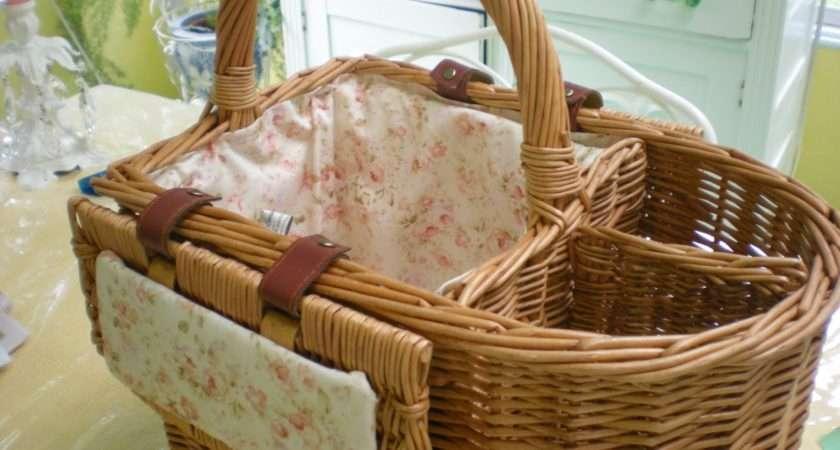 Laura Rose Garden Revamping Old Wicker Picnic Basket