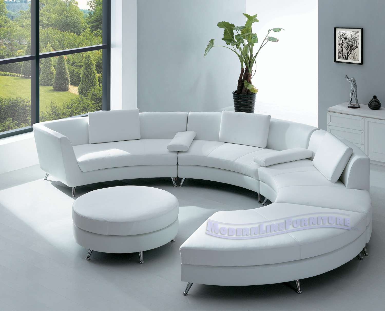 Leather Sofa Modern Furniture Catnapper