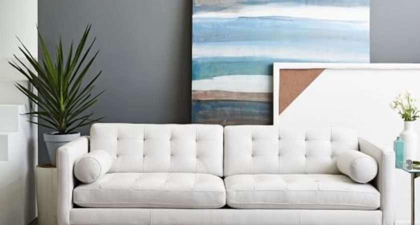 Leather Sofa White Decorating Ideas