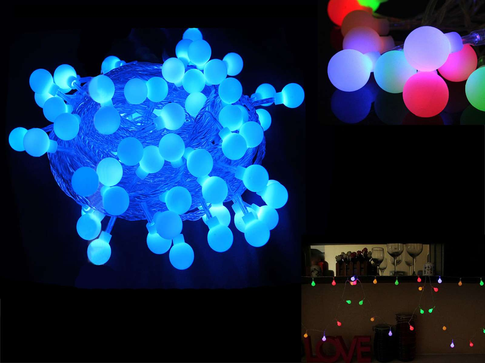 Led Fairy String Light Battery Operated Ball Styled Christmas