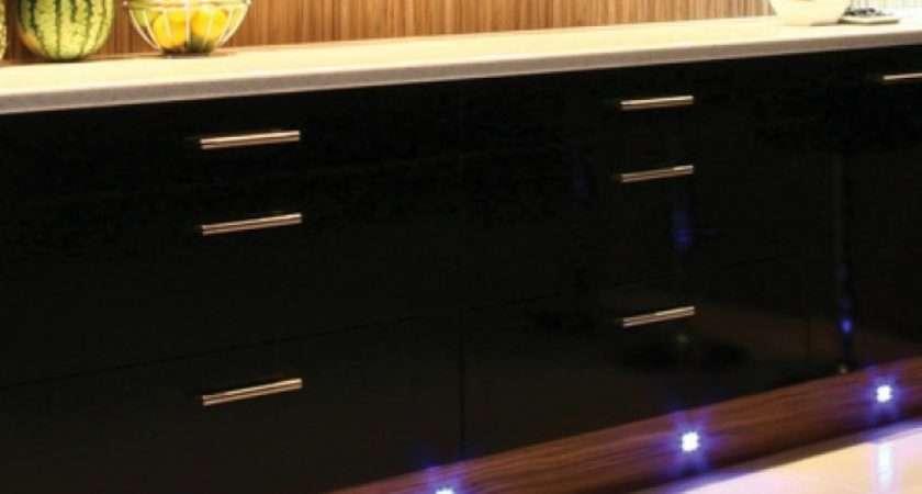 Led Kitchen Under Cabinet Modern Chrome Plinth Light