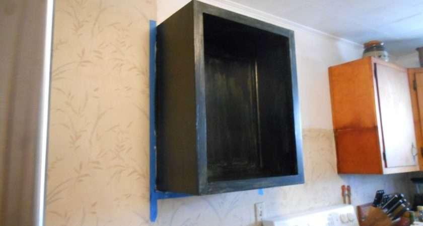 Left Putting Floating Shelves Painted Black