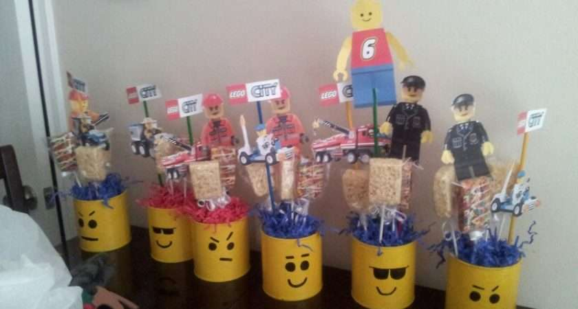 Lego Centerpieces Ale Birthday Party Pinterest