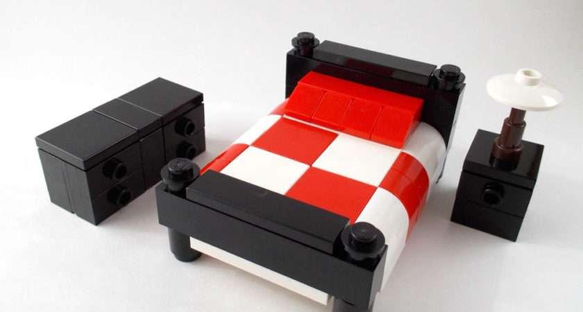 Lego Furniture Bedroom Set Bed Nightstand Dresser
