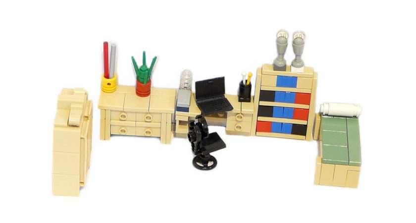 Lego Ideas Minifig Furniture Guestroom