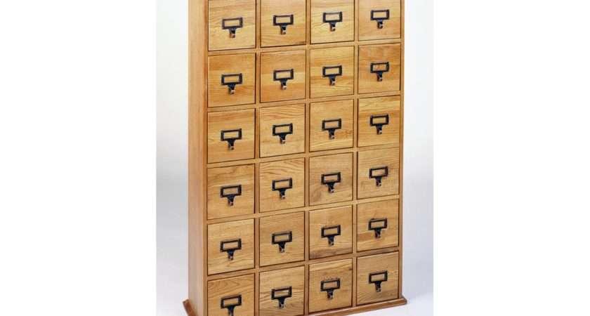 Leslie Dame Library Card Storage Cabinet Holds Cds