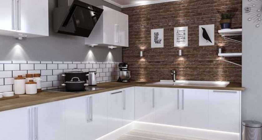 Lewes High Gloss White Kitchen Doors Made Measure