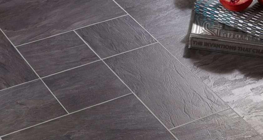 Libretto Black Slate Effect Laminate Flooring Pack