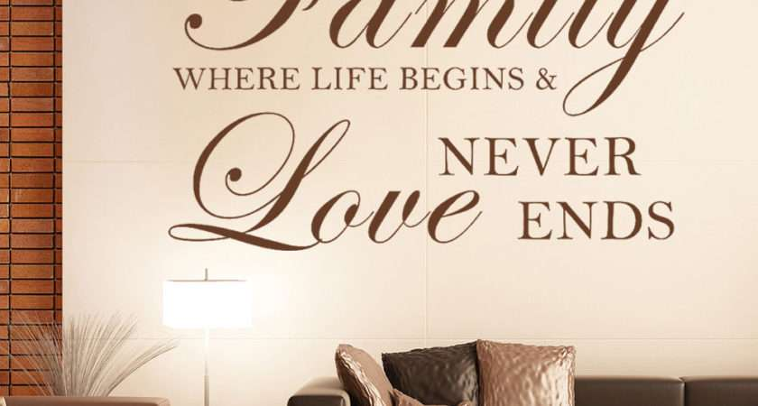 Life Begins Love Wall Sticker Inspirational