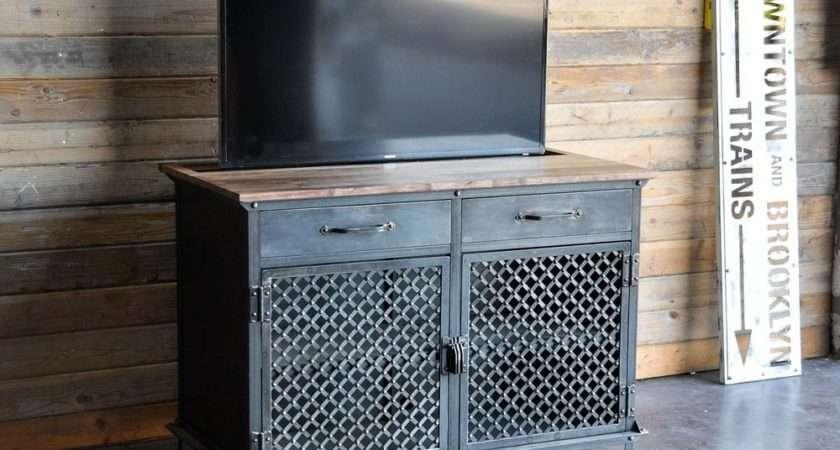 Lift Cabinet Vintage Industrial Ellis Motorized