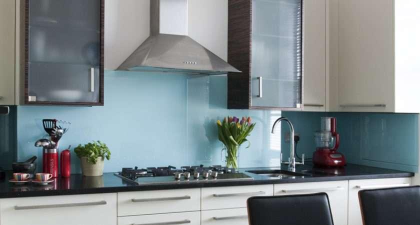 Light Blue Single Colour Splashback Totally Glass