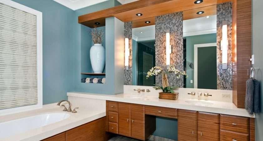 Light Blue Walls Bathroom White Help Brighten