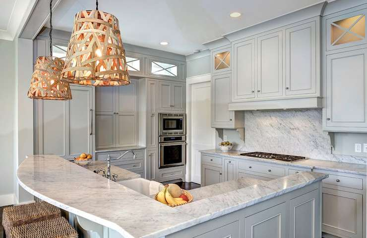 Light Gray Cabinets Transitional Kitchen Benjamin Moore Owl