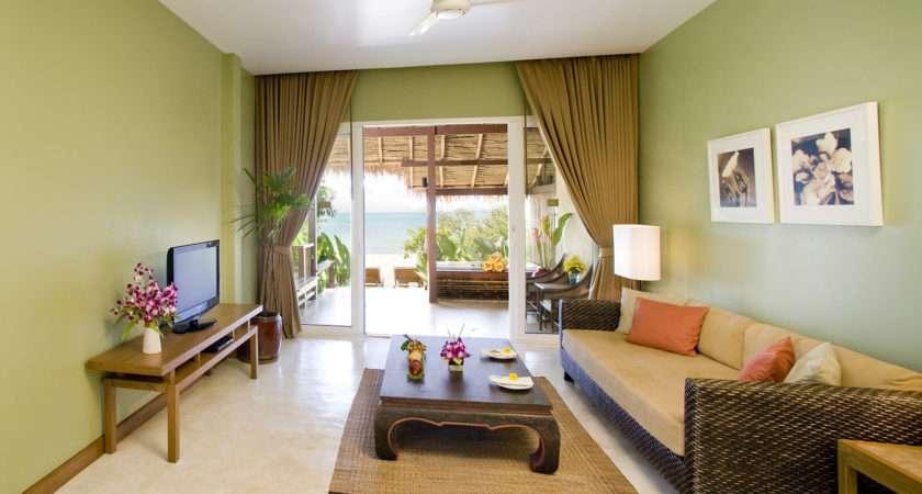 Light Green Living Room Interior Idea Design Ideas