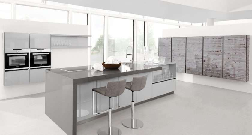 Light Grey Lacquer Kitchens Lwk
