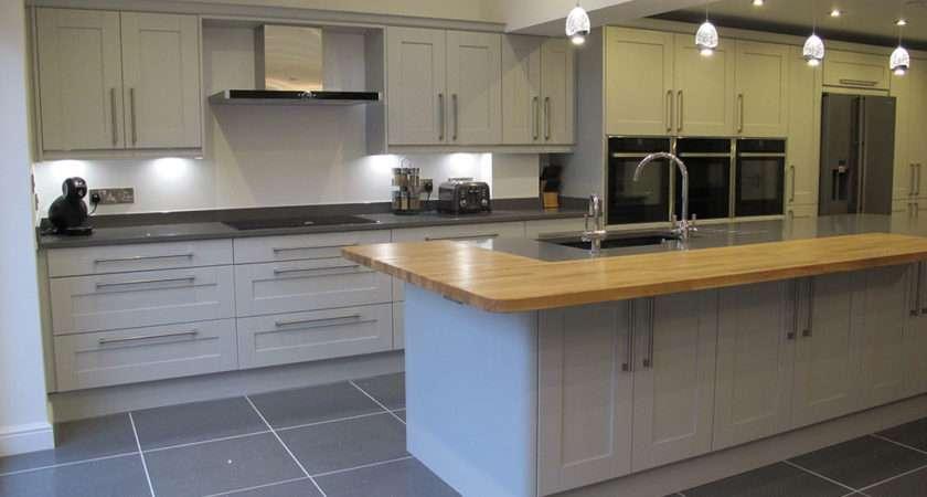 Light Grey Shaker New England Kitchens
