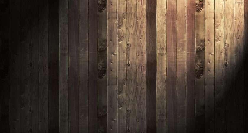 Light Shining Wood Panels Digital Art