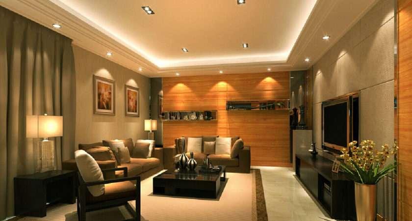 Lighting Design Living Room Recessed