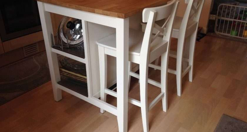 Like New Kitchen Island Matching Chairs Ikea