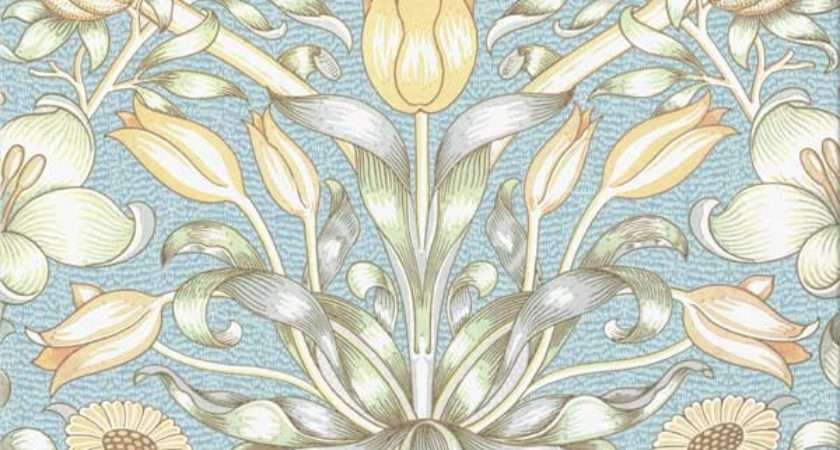 Lily Pomegranate Tile William Morris Design