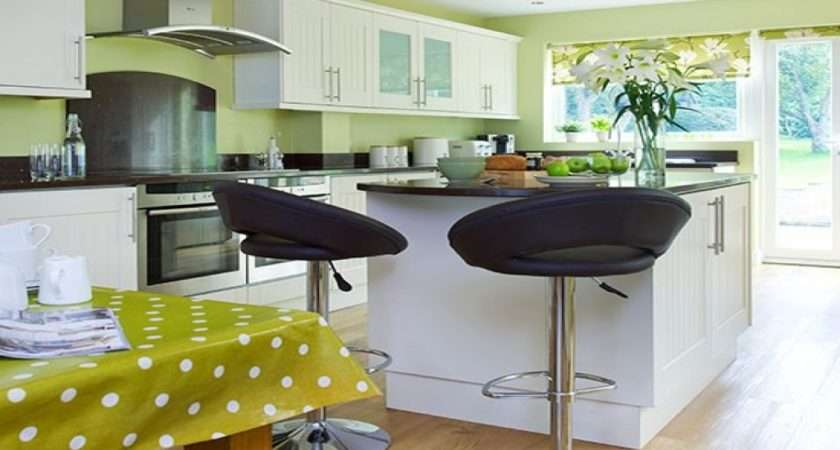 Lime Green Kitchen Black White