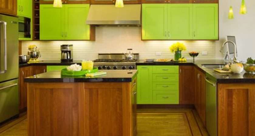 Lime Green Kitchen Home Design Ideas Remodel