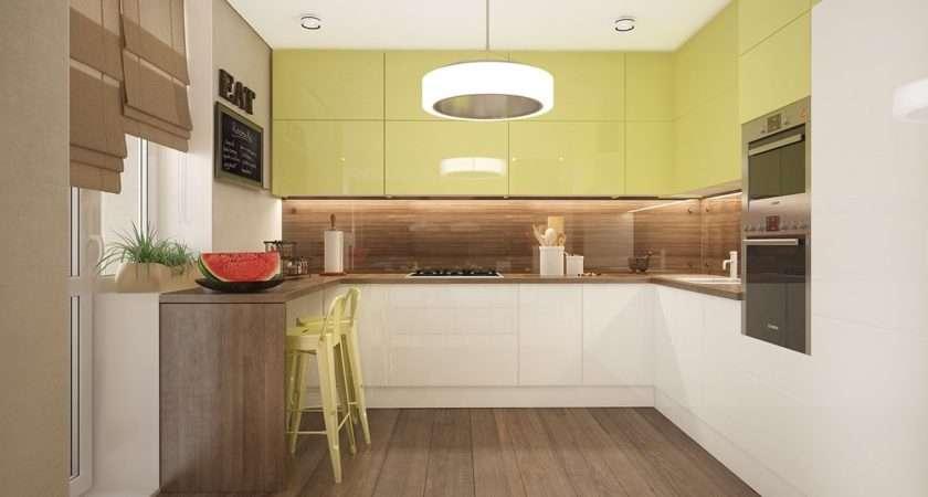 Lime Green Kitchen Interior Design Ideas