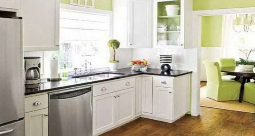 Lime Green Kitchen Wall Paint Color White Cabinet