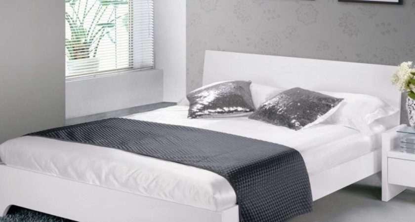 Limelight Phobos Bed Frame White High Gloss