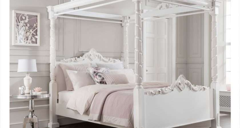 Lincoln Four Poster Antique French Style Bed Homesdirect